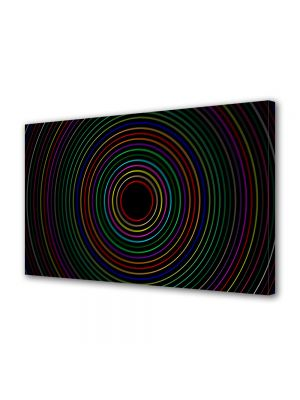 Tablou Canvas Luminos in intuneric VarioView LED Abstract Modern Cercuri colorate