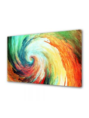 Tablou Canvas Luminos in intuneric VarioView LED Abstract Modern Spirala