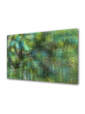 Tablou Canvas Luminos in intuneric VarioView LED Abstract Modern Verde scurs