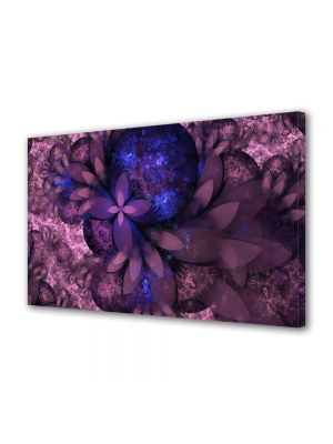 Tablou Canvas Luminos in intuneric VarioView LED Abstract Modern Flori violet