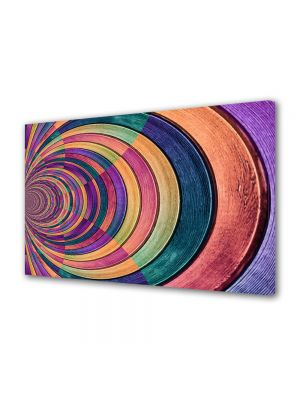 Tablou Canvas Abstract Gemulete de sticla colorata