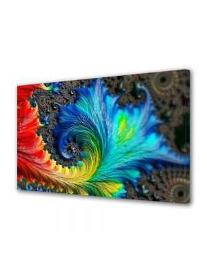 Tablou Canvas Luminos in intuneric VarioView LED Abstract Modern Pana colorata