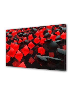 Tablou VarioView MoonLight Fosforescent Luminos in intuneric Abstract Decorativ Cuburi rosi si negre
