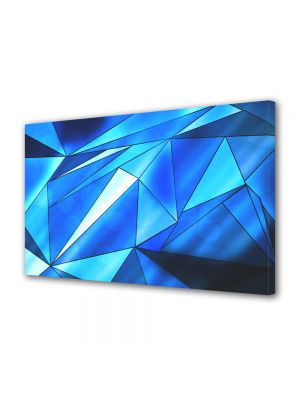 Tablou Canvas Abstract Triunghiuri albastre