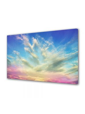Tablou Canvas Luminos in intuneric VarioView LED Abstract Modern Cerul