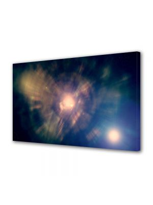 Tablou Canvas Luminos in intuneric VarioView LED Abstract Modern Centrul Universului