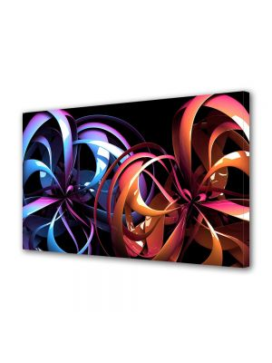 Tablou Canvas Luminos in intuneric VarioView LED Abstract Modern Carusel de culori