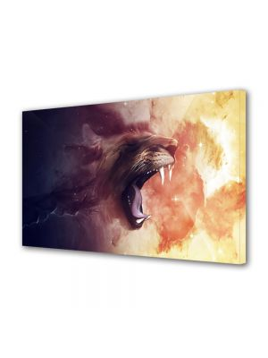 Tablou Canvas Luminos in intuneric VarioView LED Abstract Modern Furie