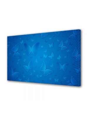 Tablou VarioView MoonLight Fosforescent Luminos in intuneric Abstract Decorativ Fluturi albastri