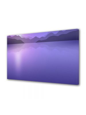 Tablou Canvas Luminos in intuneric VarioView LED Abstract Modern Peisaj Violet