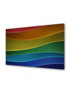 Tablou Canvas Abstract Dealuri colorate