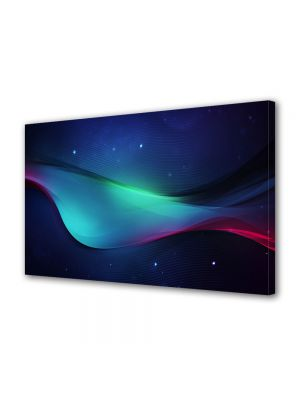 Tablou Canvas Luminos in intuneric VarioView LED Abstract Modern Unda in spatiu