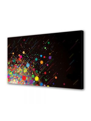 Tablou Canvas Luminos in intuneric VarioView LED Abstract Modern Stropi de culoare