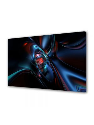 Tablou Canvas Luminos in intuneric VarioView LED Abstract Modern Nava spatiala