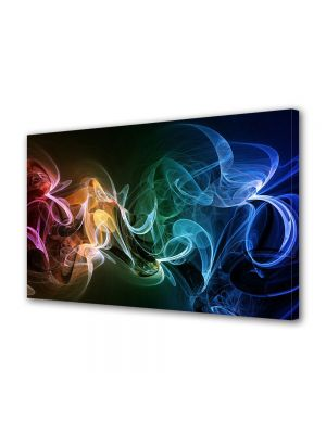 Tablou Canvas Luminos in intuneric VarioView LED Abstract Modern Fum multicolor