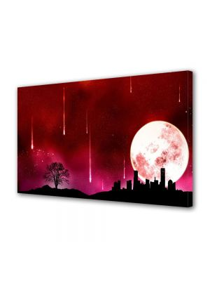 Tablou Canvas Luminos in intuneric VarioView LED Abstract Modern noapte rosie