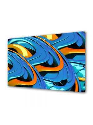 Tablou VarioView MoonLight Fosforescent Luminos in intuneric Abstract Decorativ Albastru si portocaliu