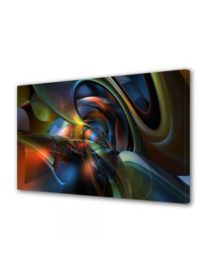 Tablou Canvas Luminos in intuneric VarioView LED Abstract Modern Nuante
