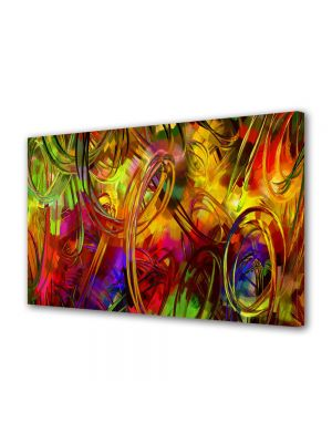 Tablou Canvas Luminos in intuneric VarioView LED Abstract Modern Colorat