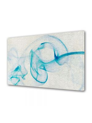 Tablou Canvas Luminos in intuneric VarioView LED Abstract Modern Fum bleu