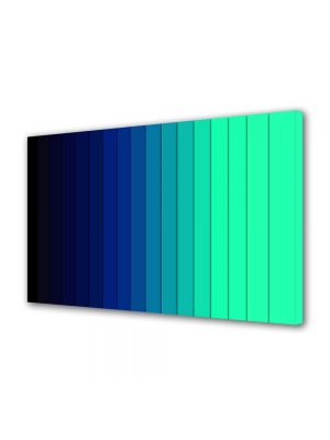 Tablou Canvas Luminos in intuneric VarioView LED Abstract Modern Dungi albastre