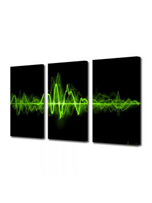 Set Tablouri Multicanvas 3 Piese Abstract Decorativ Sunet