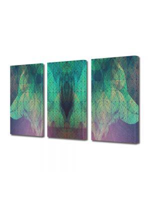 Set Tablouri Multicanvas 3 Piese Abstract Decorativ Arta contemporana