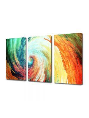 Set Tablouri Multicanvas 3 Piese Abstract Decorativ Spirala