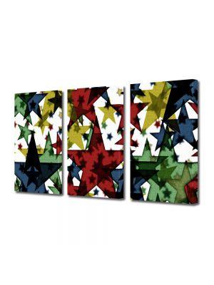 Set Tablouri Multicanvas 3 Piese Abstract Decorativ Stele