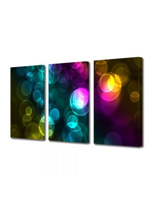 Set Tablouri Multicanvas 3 Piese Abstract Decorativ Luminite