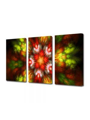 Set Tablouri Multicanvas 3 Piese Abstract Decorativ Forme de lumina