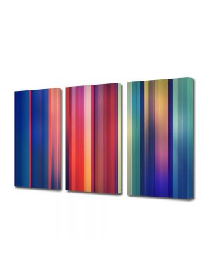 Set Tablouri Multicanvas 3 Piese Abstract Decorativ Spectru color
