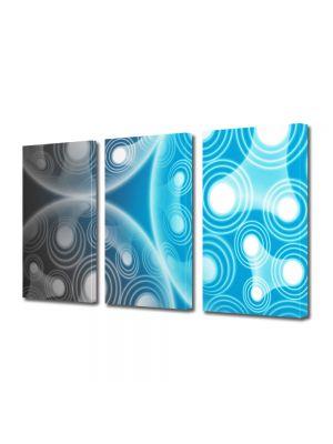 Set Tablouri Multicanvas 3 Piese Abstract Decorativ Molecule