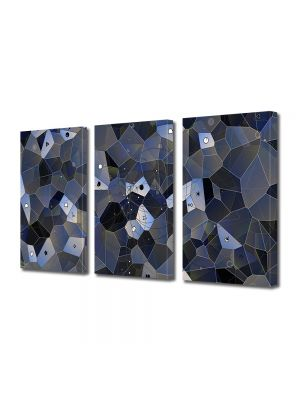 Set Tablouri Multicanvas 3 Piese Abstract Decorativ Ochi