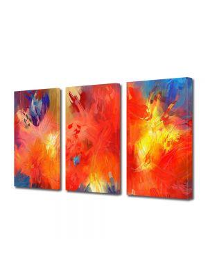 Set Tablouri Multicanvas 3 Piese Abstract Decorativ Univers