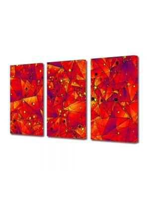 Set Tablouri Multicanvas 3 Piese Abstract Decorativ Aproape de soare