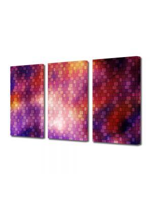 Set Tablouri Multicanvas 3 Piese Abstract Decorativ Model