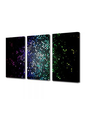 Set Tablouri Multicanvas 3 Piese Abstract Decorativ Tari