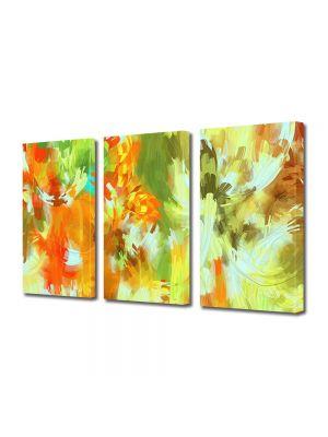 Set Tablouri Multicanvas 3 Piese Abstract Decorativ Camuflaj deschis