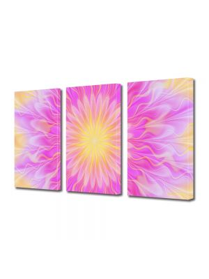 Set Tablouri Multicanvas 3 Piese Abstract Decorativ Lumina pufoasa