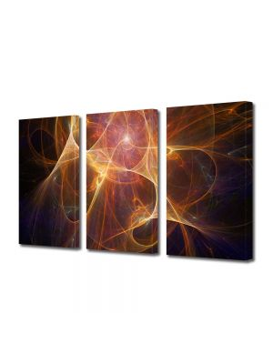 Set Tablouri Multicanvas 3 Piese Abstract Decorativ Univers paralel
