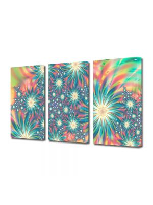 Set Tablouri Multicanvas 3 Piese Abstract Decorativ Exotic