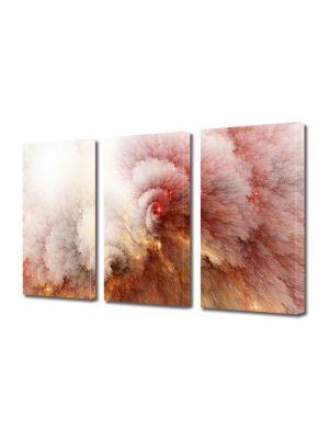 Set Tablouri Multicanvas 3 Piese Abstract Decorativ Explozie