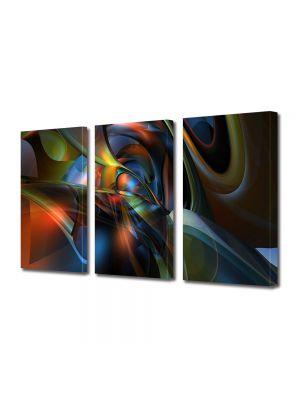 Set Tablouri Multicanvas 3 Piese Abstract Decorativ Mase plastice