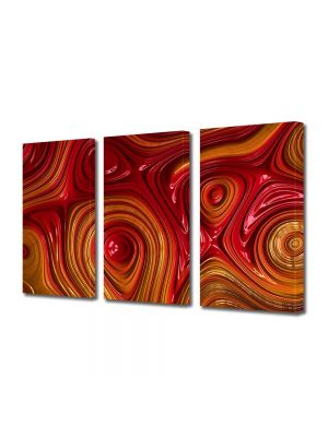 Set Tablouri Multicanvas 3 Piese Abstract Decorativ Unduiri de lumina