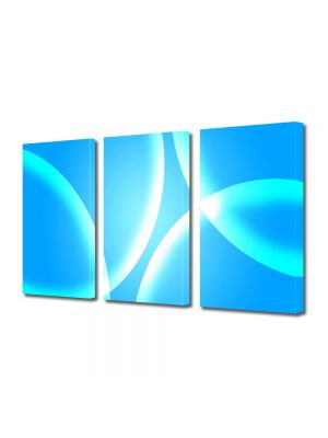 Set Tablouri Multicanvas 3 Piese Abstract Decorativ Bule albastre