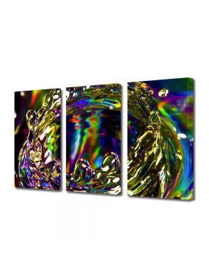 Set Tablouri Multicanvas 3 Piese Abstract Decorativ Strop