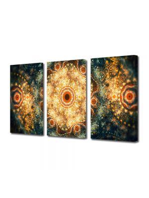 Set Tablouri Multicanvas 3 Piese Abstract Decorativ Candelabre