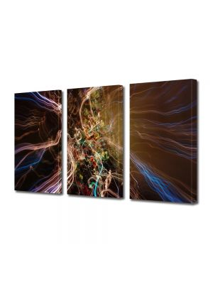 Set Tablouri Multicanvas 3 Piese Abstract Decorativ Spre alta galaxie