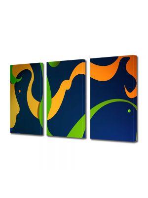 Set Tablouri Multicanvas 3 Piese Abstract Decorativ De basm
